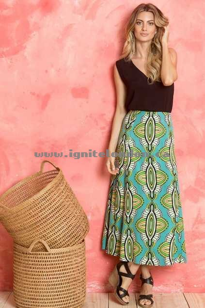 Womens Totem Swing Skirt Mykonos - Prints Sale Online