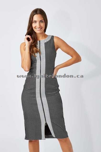 Womens Very Very Check Zip Front Dress Check - Checks, Prints, Textured, Monochrome On Sale