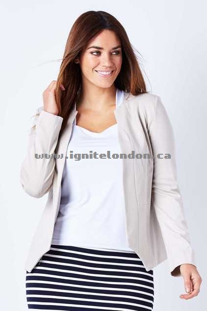 Womens Wish Persuit Jacket Cream - Plain Colour Factory Price