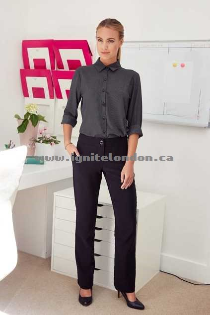 Womens bird keepers The Bengalene Work Pant Black - Stretch, Plain Colour Authentic