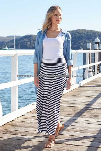 Womens bird keepers The Best Seller Skirt JetBlack - Stretch, Plain Colour, Stripes Sale Canada