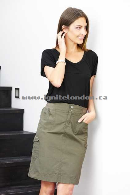 Womens bird keepers The Cargo Skirt Black - Plain Colour Canada Online Shop