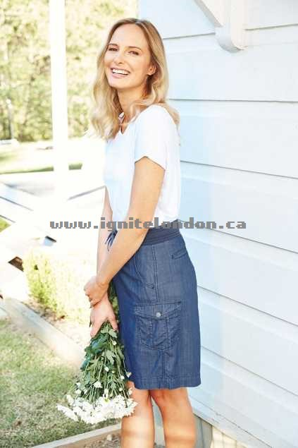 Womens bird keepers The Chambray Skirt Chambray - Plain Colour, Chambray Wonderful