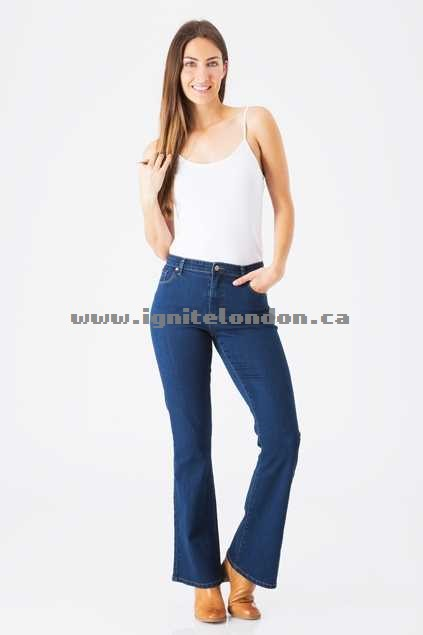 Womens bird keepers The Classic Bootcut Jean Blue - Plain Colour, Stretch Factory Outlet