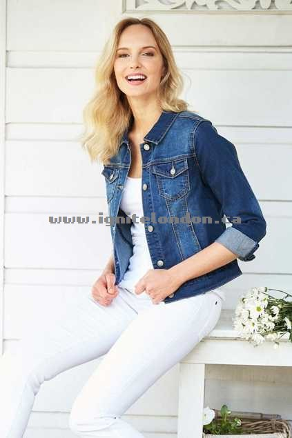 Womens bird keepers The Denim Jacket Denim - Plain Colour, Stretch Popular