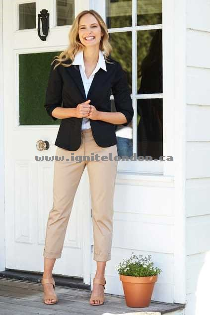 Womens bird keepers The Everyday Blazer Black - Plain Colour, Stretch 2018 New