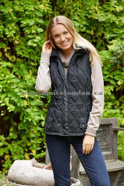Womens bird keepers The Quilted Puffer Vest Black - Padded, Shearling, Quilted Sale