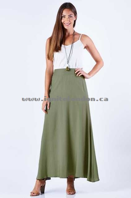 Womens bird keepers The Relaxed Maxi Skirt Black - Plain Colour Fashion