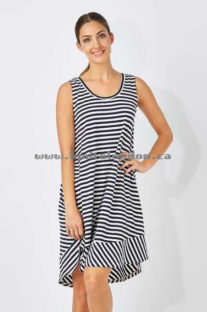 Womens bird keepers The Sleeveless Swing Dress Stripe - Stretch, Stripes, Prints Authentic
