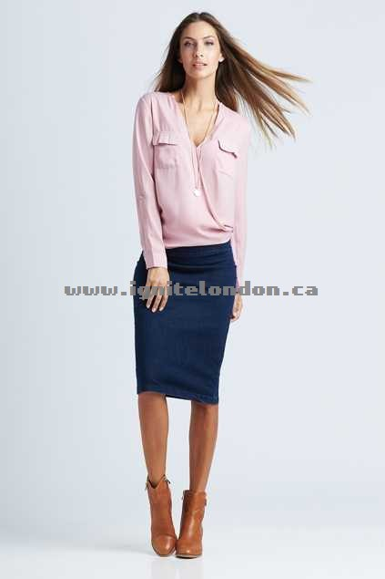 Womens bird keepers The Stretch Denim Skirt DenimBlue - Stretch New Style
