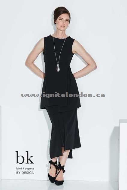 Womens bird keepers by design The Asymmetrical Hem Skirt Black - Plain Colour, Stretch Discount