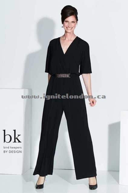 Womens bird keepers by design The Bell Sleeve Jumpsuit Black - Plain Colour Outlet Sale