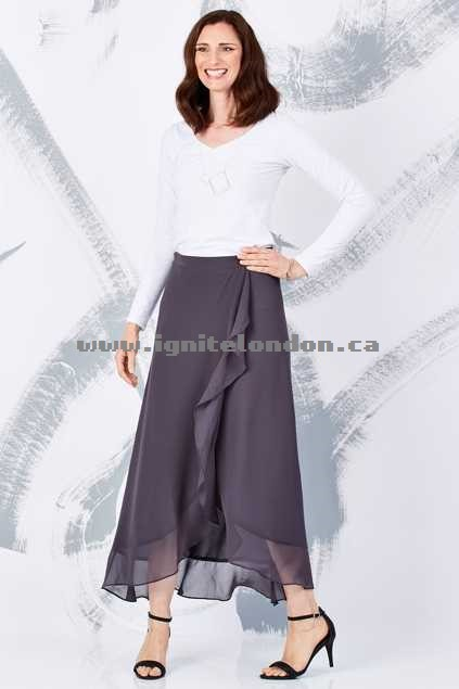 Womens bird keepers by design The Crossover Maxi Skirt DarkGrey - Plain Colour Discounted