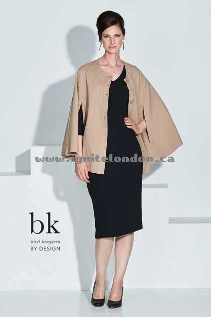 Womens bird keepers by design The Glamour Cape Beige - Plain Colour, Stretch Store Canada