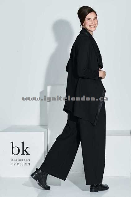 Womens bird keepers by design The Lotus Waterfall Jacket Black - Stretch, Plain Colour, Embellished Special Sales