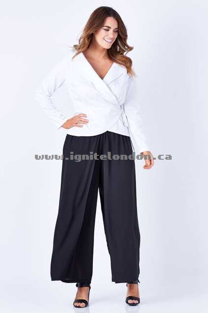 Womens bird keepers by design The Soft Wide Leg Pant Black - Plain Colour Fashion Style