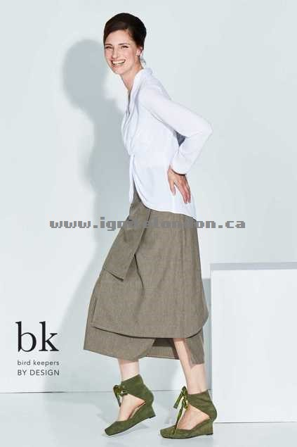 Womens bird keepers by design The Step It Up Midi Skirt Hammock - Plain Colour, Textured Store Canada