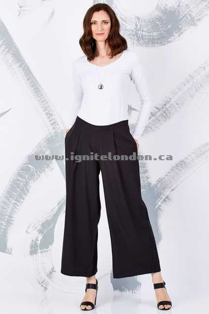 Womens bird keepers by design The Wide Leg Pants Black - Plain Colour Hot Sale