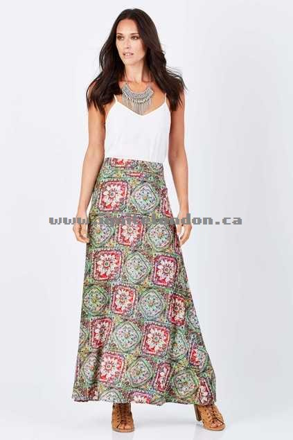 Womens boho bird Down To The Waterhole Skirt RoseTile - Prints, Floral Discounted