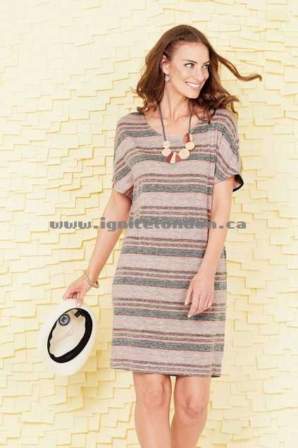 Womens handpicked by birds Jersey Shift Dress Stripe - Stretch, Knit, Stripes Buy