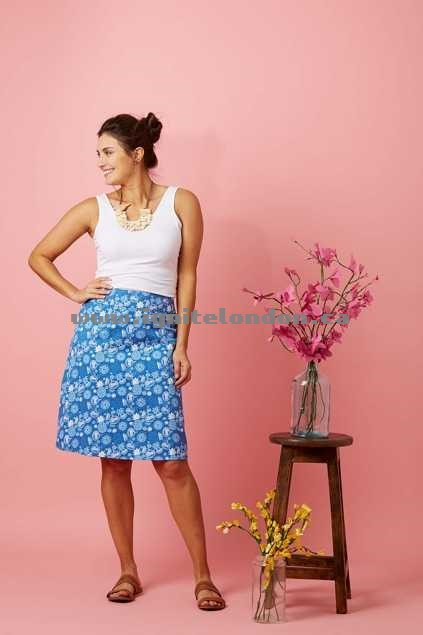 Womens that bird label Adele A-line Skirt Fruit Punch Blue - Prints Outlet Sale