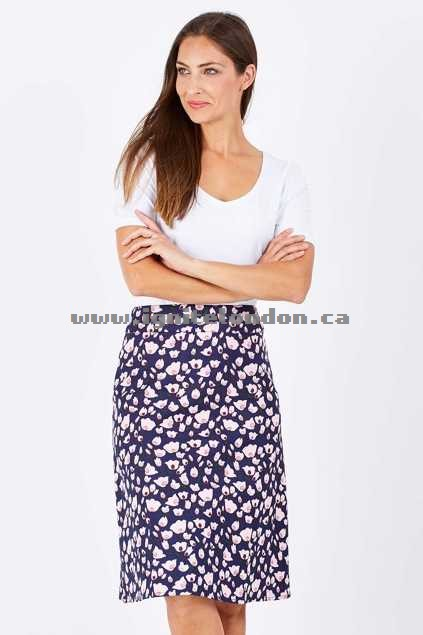Womens that bird label Poppy A-line Skirt Meadow Pink - Prints On Sale